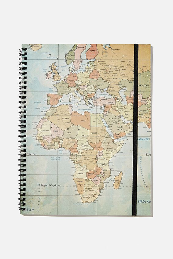 A4 Spinout Notebook Recycled, RG SA MAP