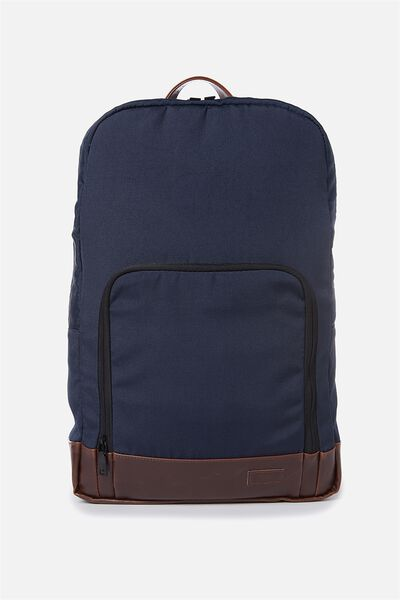 Voyager Laptop Backpack, NAVY & RICH TAN