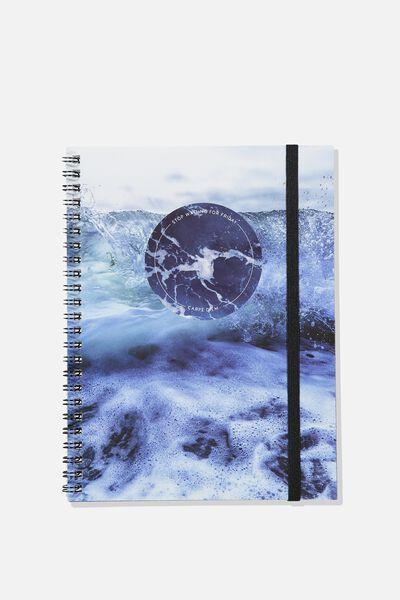 A5 Spinout Notebook - 120 Pages, CARPE DIEM OCEAN