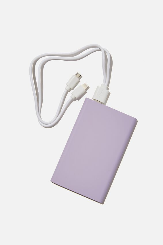 Charge It Power Bank, PALE LILAC