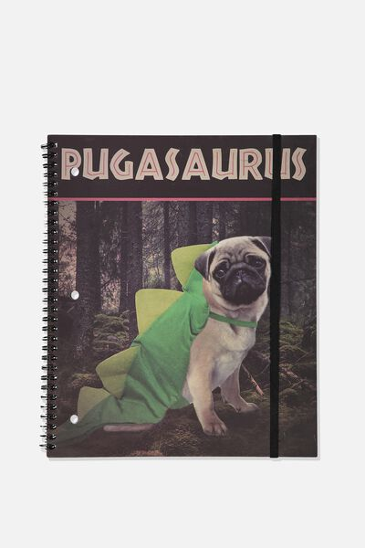 College Ruled Spinout Notebook V, PUGASAURUS