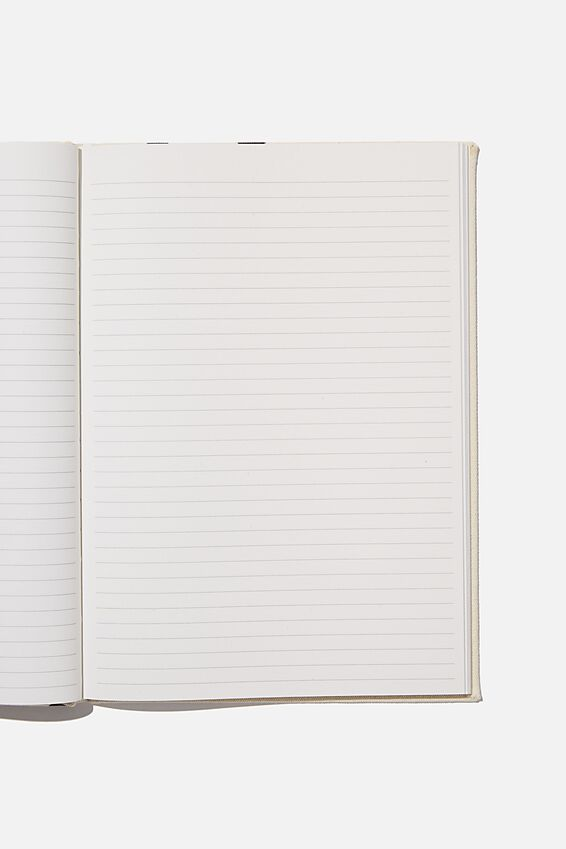 A4 Oxford Notebook, ECRU OVERSIZED POLKA