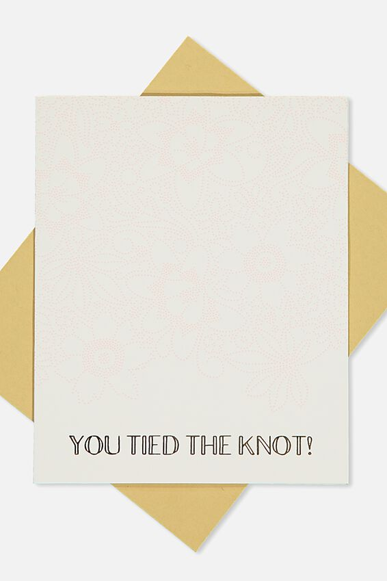 Wedding Card, YOU TIED THE KNOT EMBOSS