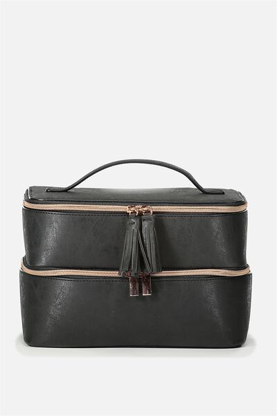St Tropez Beauty Case, BLACK
