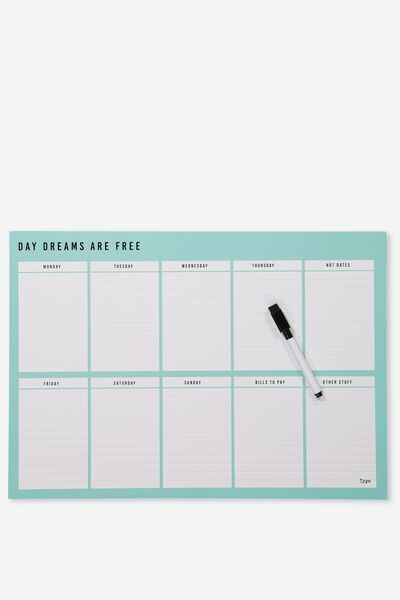 A3 Extra Large Magnetic Planner, BLUE DAYDREAMS