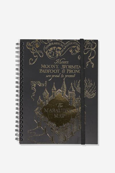 Small Spinout Notebook - V, LCN HP MARAUDERS MAP