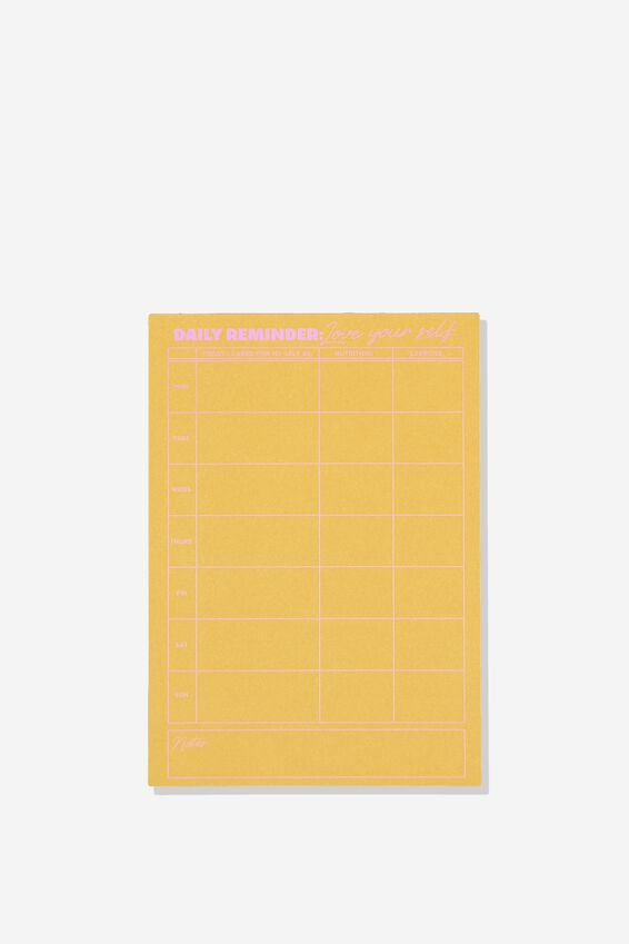 "A5 Wellness Tracker (8.27"" x 5.83""), DAILY REMINDER LOVE YOURSELF"