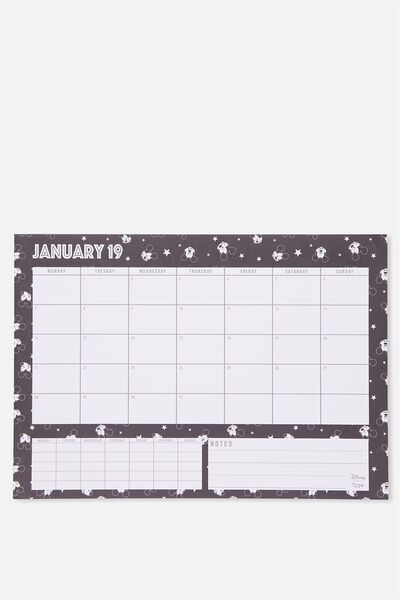 2019 A3 Extra Large Plan Ahead Planner, LCN MICKEY FACES