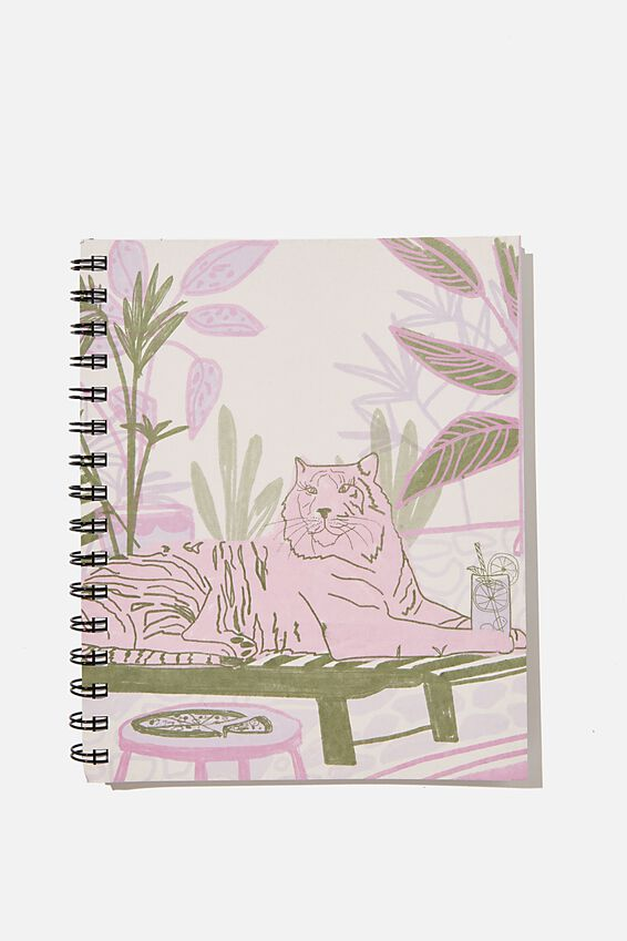 A5 Campus Notebook Recycled, RG SAF BOUJEE ANIMAL