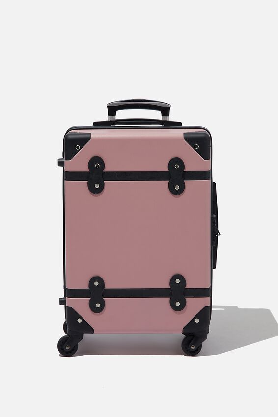 Travel Trunk Suitcase, DUSTY ROSE