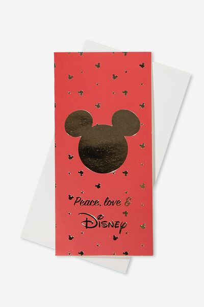 Gift Wallet, LCN MIC RED/GOLD MICKEY HEAD