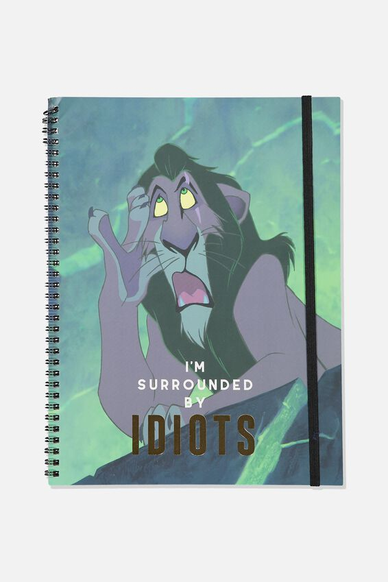 Lion King A4 Spinout Notebook, LCN DIS SURROUNDED BY IDIOTS