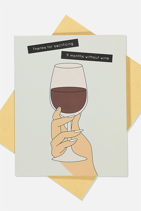 Mothers Day Card, WINE SACRIFICE!