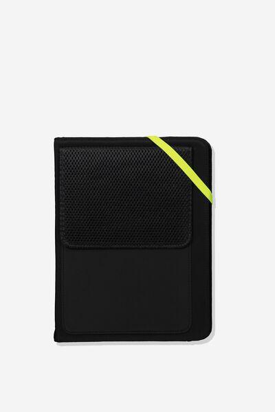 Metro Tablet Case, BLACK + YELLOW
