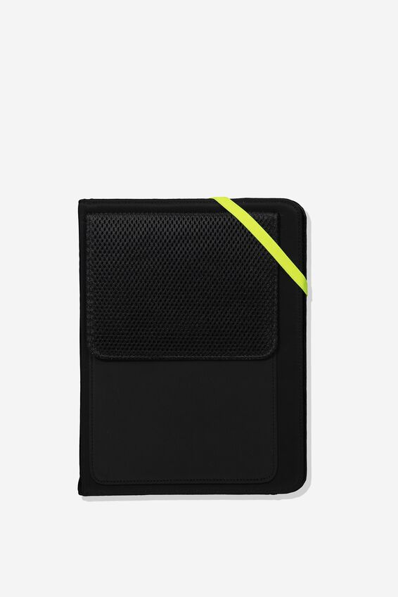 Metro Tablet Case, BLACK + YELLOW