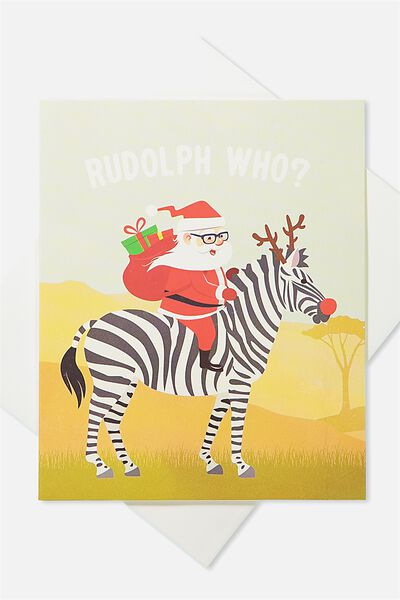 2018 Christmas Card, RUDOLPH WHO ZEBRA