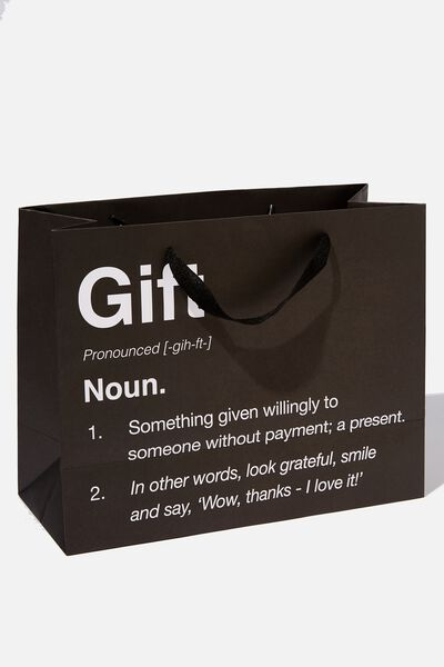 Stuff It Gift Bag - Medium, GIFT NOUN BLACK