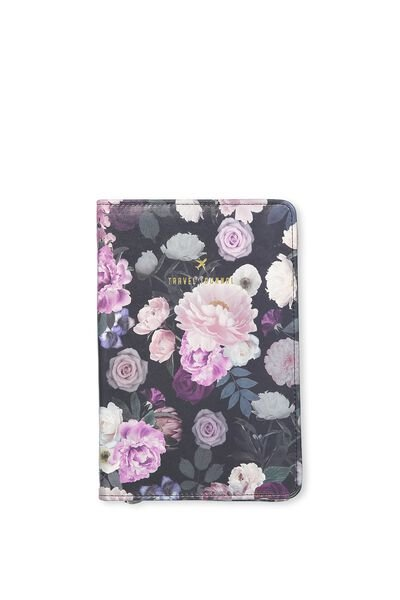 Buffalo Travel Journal, DARK FLORAL