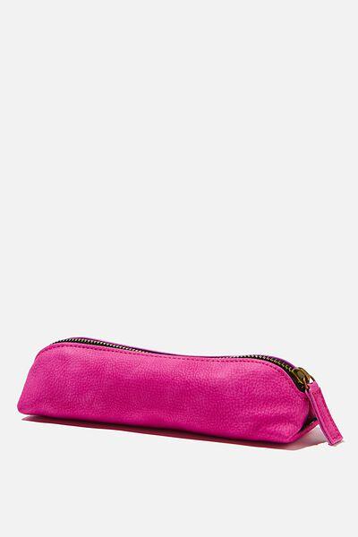 Buffalo Barrel Pencil Case, MAGENTA