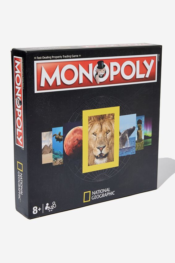 National Geographic Monopoly Board Game, LCN NATIONAL GEOGRAPHIC