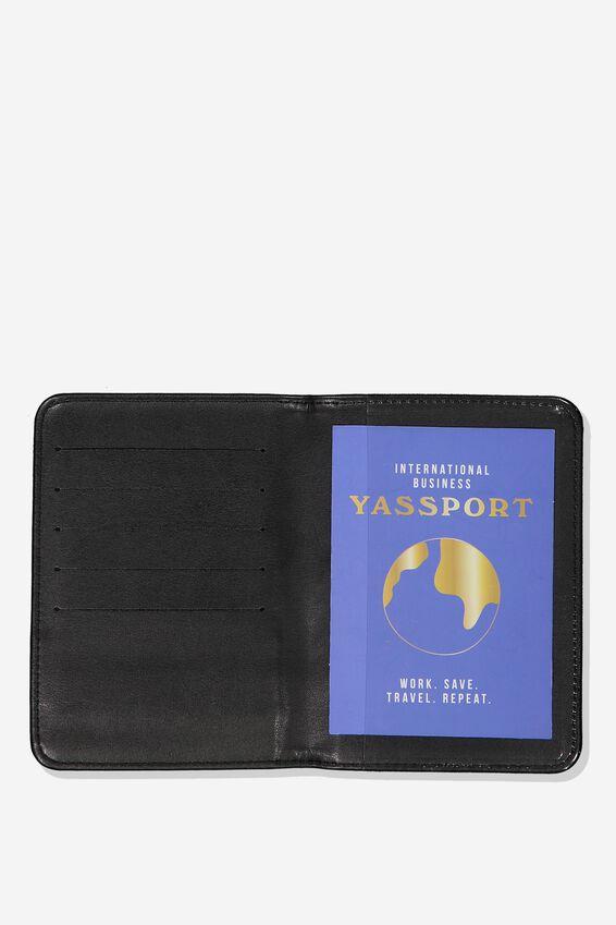 Passport Holder, NAVY WEAVE