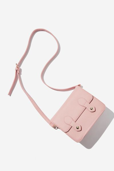 Mini Buffalo Satchel Bag, DUSTY PINK