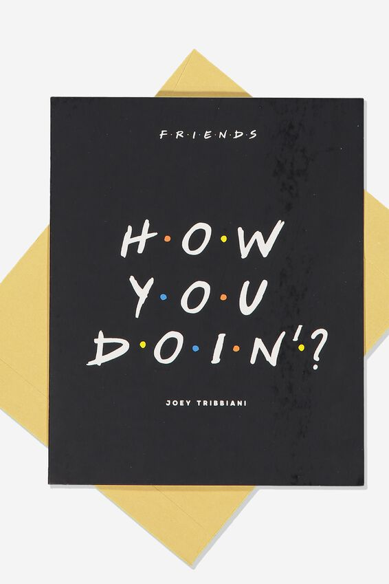 Love Card, LCN WB FRIENDS HOW YOU DOIN