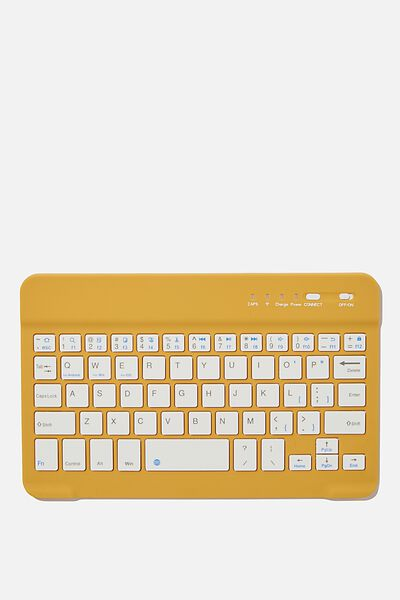 Oh Shift Wireless Keyboard, MUSTARD