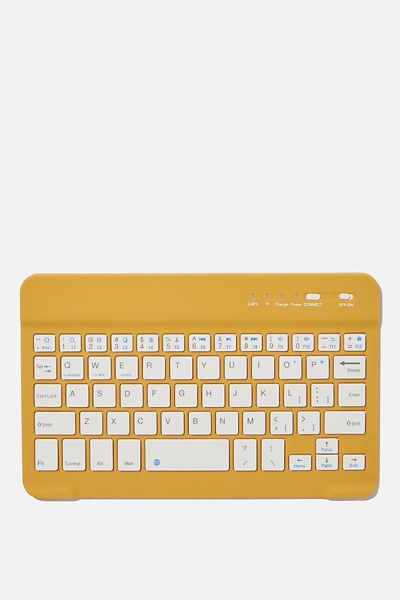 Oh Shift Wireless Keyboard, MUSTARD