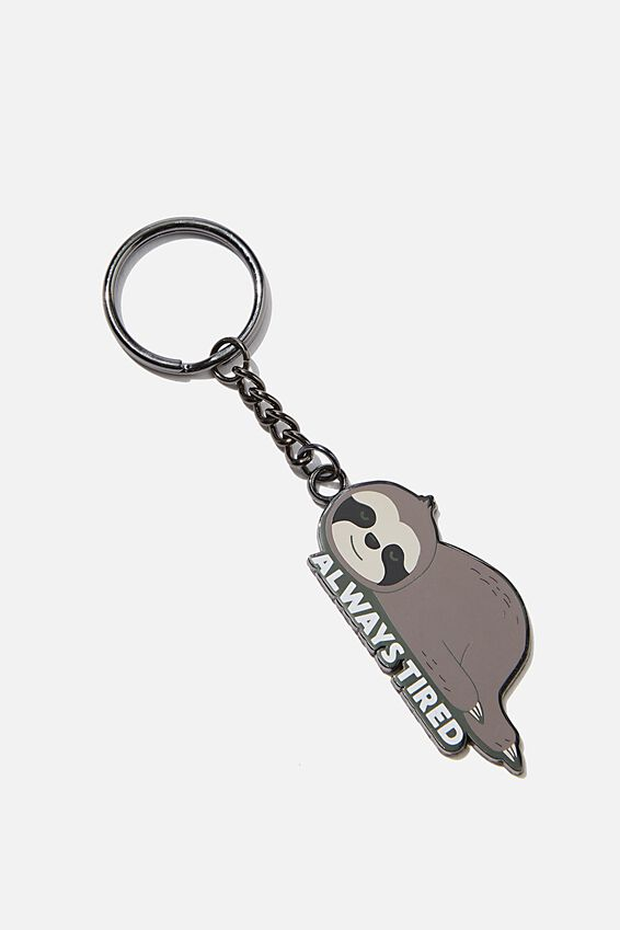 Enamel Keyring, SLOTH TIRED