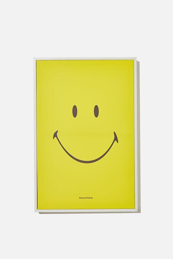 40 X 60 Smiley Canvas Art, LCN SMI SMILEY YELLOW FACE