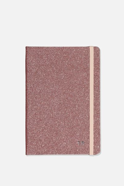 Personalised A5 Buffalo Journal, ROSE GOLD WITH SILVER FOILING