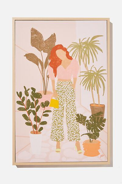 40 X 60 Canvas Art, FASHION GREENERY GIRL