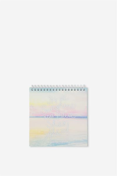 2019 Flip Desk Calendar, PASTEL TRAVEL