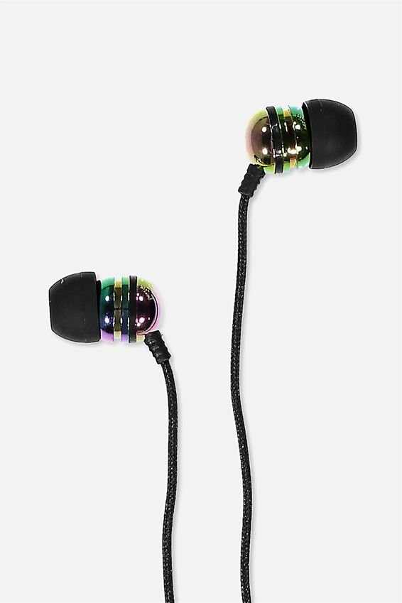 Luxe Earphones, OIL SLICK