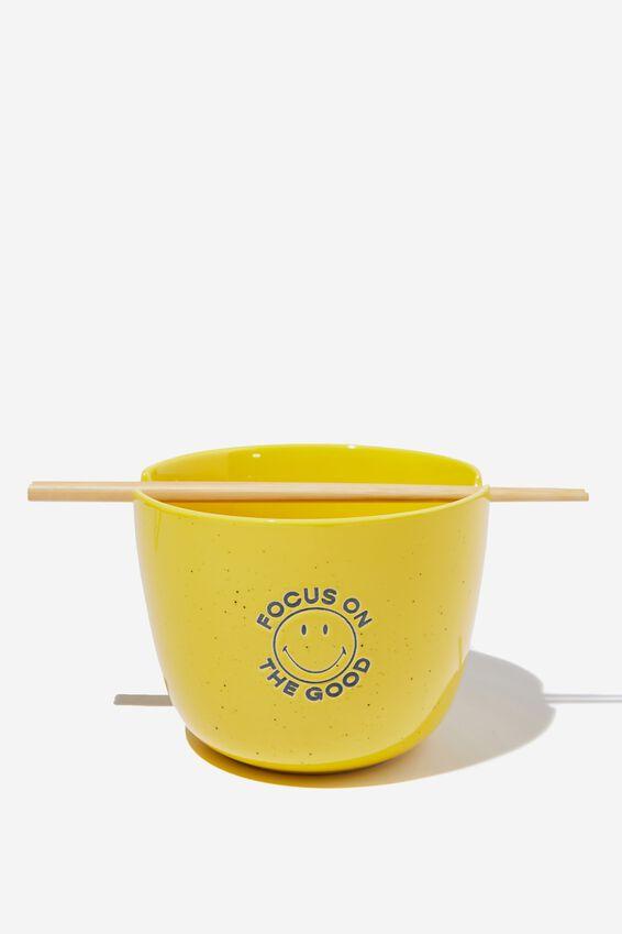 Smiley Feed Me Bowl, LCN SMI FOCUS ON GOOD YELLOW