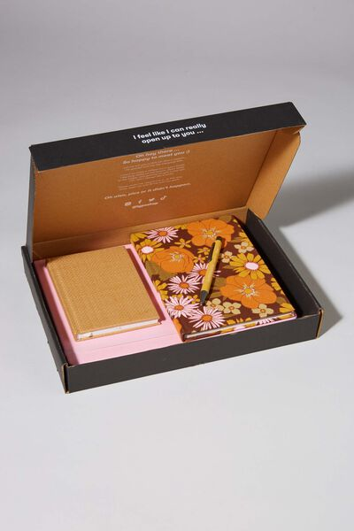 Premium Notebook Gift Set, TAN MUSTARD