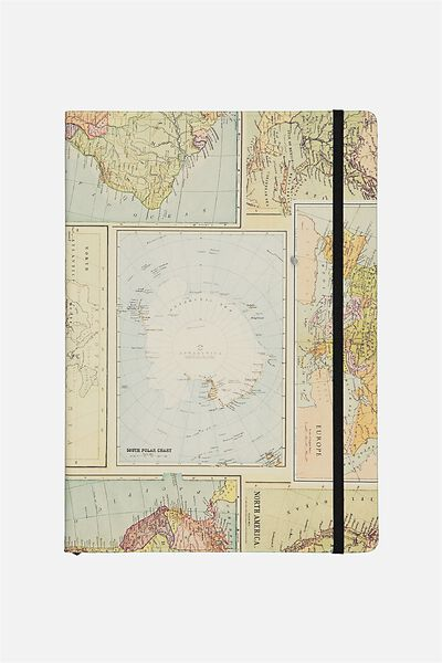 Large Buffalo Journal, GRID WORLD MAP