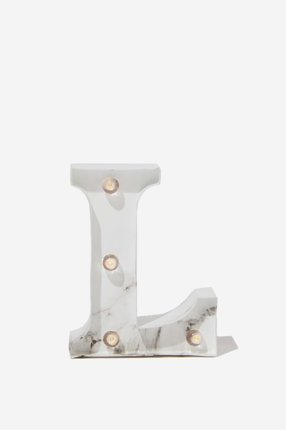 Mini Marquee Letter Lights 10cm, MARBLE L
