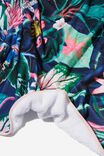 Printed Throw, BRIGHT JUNGLE FLORAL