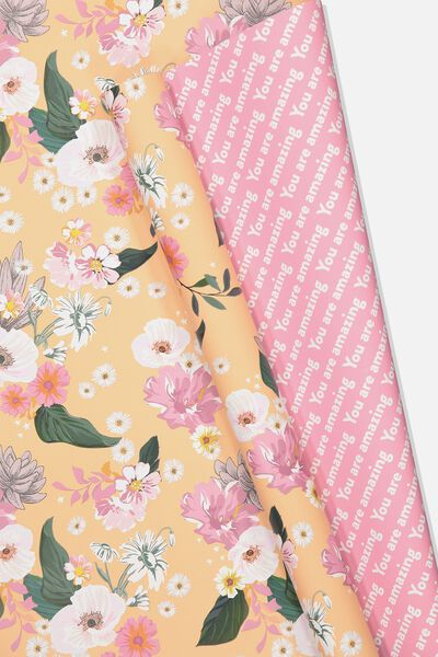 Double Sided Roll Wrap, FLORAL YOU ARE AMAZING
