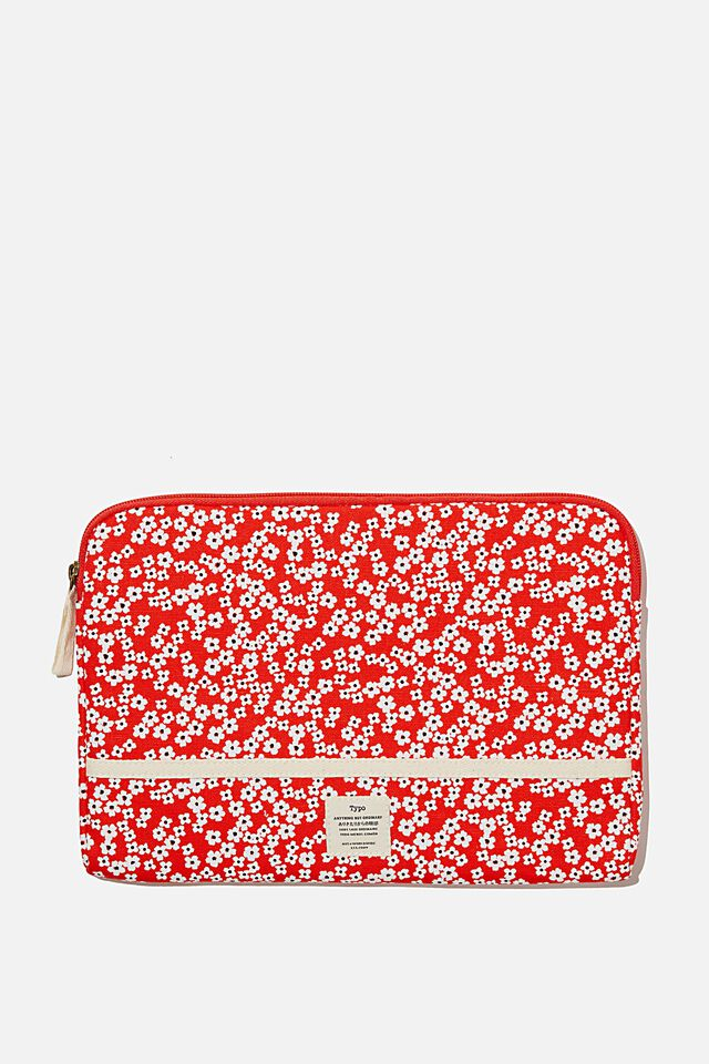 Take Me Away 11 Inch Laptop Case, RG TRUE RED CHERRY BLOSSOM