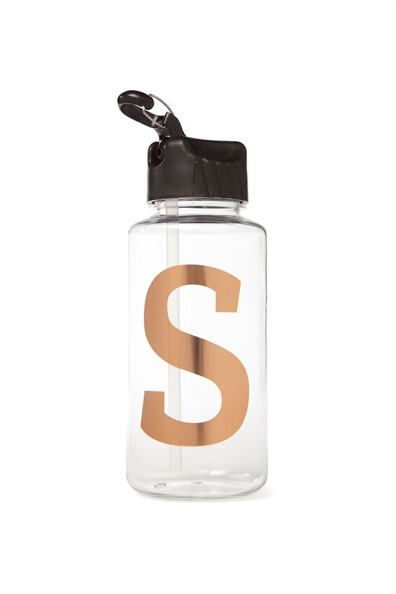 Alphabet Drink Bottle, ROSE GOLD S