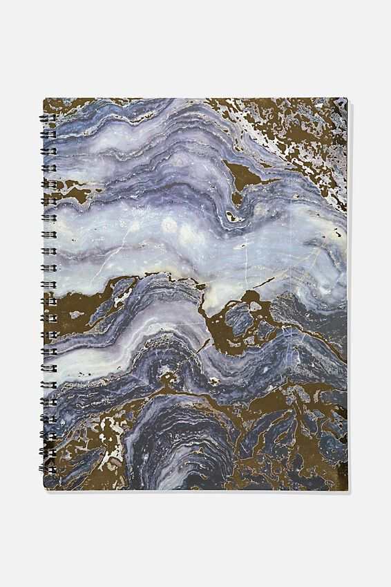 A4 Campus Notebook Recycled, GREY MARBLE