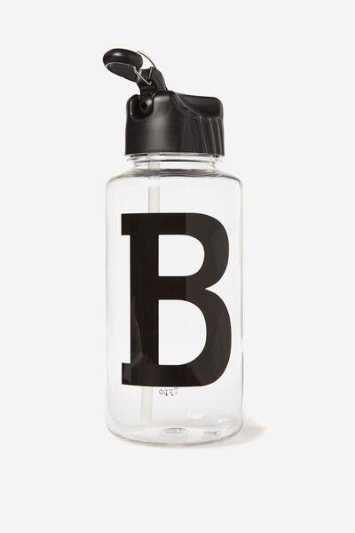 Alphabet Drink Bottle, BLACK B