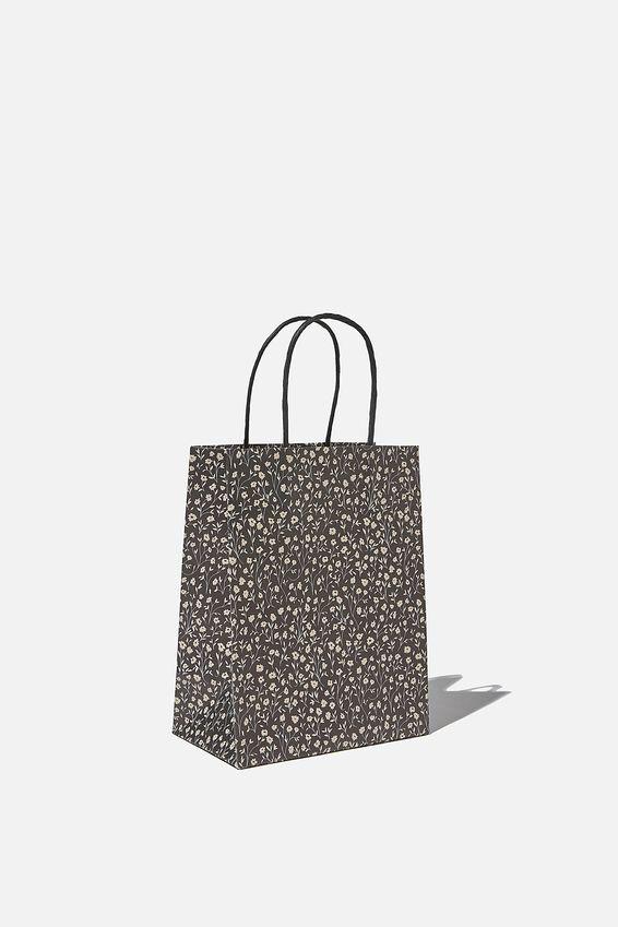 Get Stuffed Gift Bag - Small, MEADOW DAISY BLACK