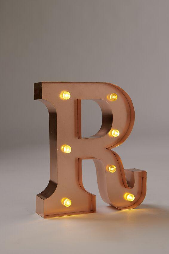 Marquee Letter Lights Premium 6.3inch Midi, ROSE GOLD R