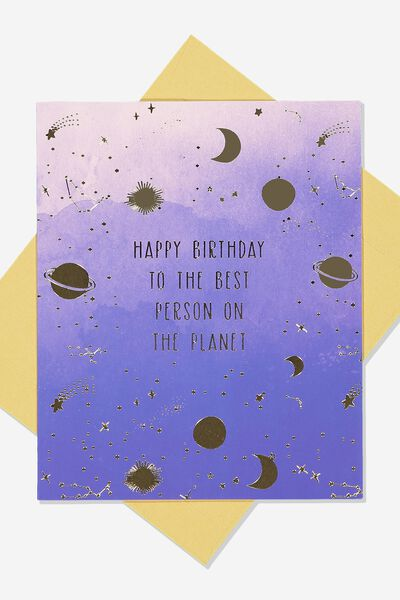 Nice Birthday Card PLANET BIRTHDAY