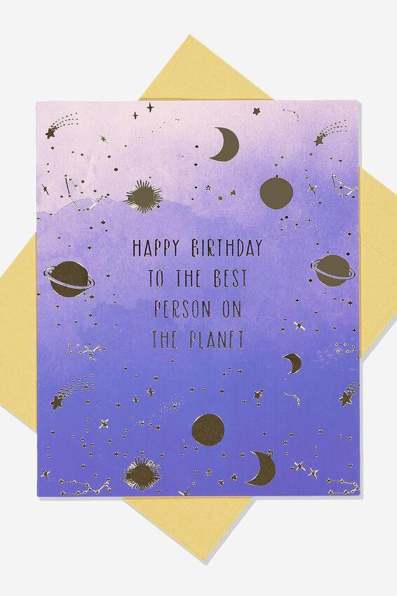 Nice Birthday Card, PLANET BIRTHDAY