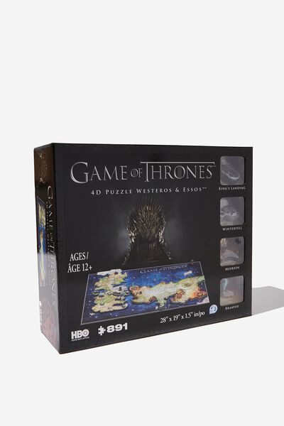 Game Of Thrones 4D Puzzle Of Westeros And Essos, GAME OF THRONES